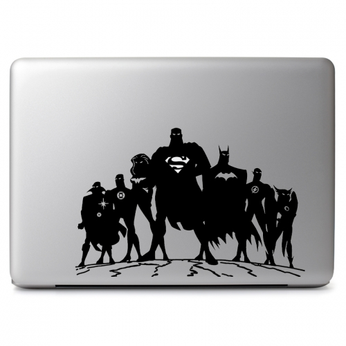 DC Comics Justice League with Cutout for Glowing Superman Logo - Apple Macbook Air Pro 11