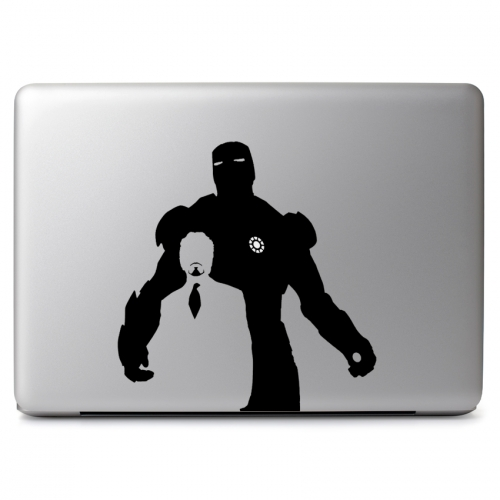 Marvel Comics Iron Man and Tony Stark with Glowing Arc Reactor - Apple Macbook Air Pro 11