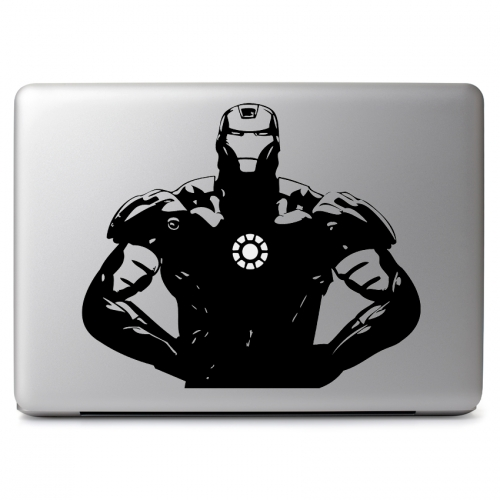 Marvel Comics Iron Man with Cutout for Glowing Arc Reactor - Apple Macbook Air Pro 11