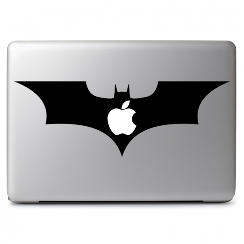 DC Comics Batman The Dark Knight Logo with Cutout for Glowing Apple Logo - Apple Macbook Air Pro 11