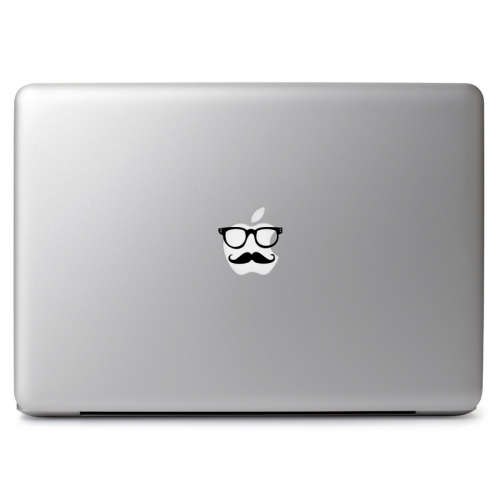 Hipster Nerd Glasses with Gentleman Mustache - Apple Macbook Air Pro 11