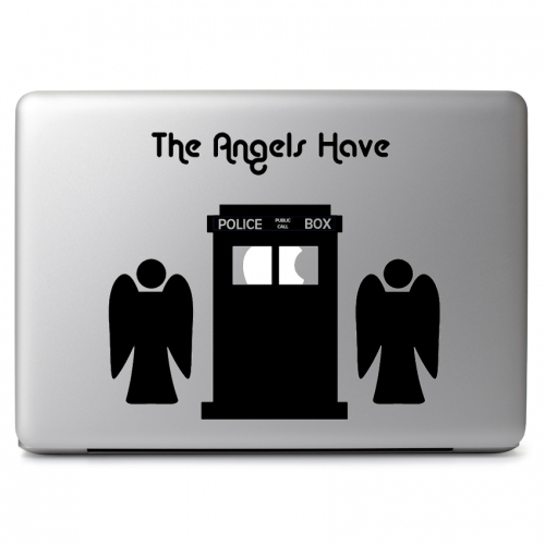 Doctor Who Tardis and Weeping Angel - Apple Macbook Air Pro 11