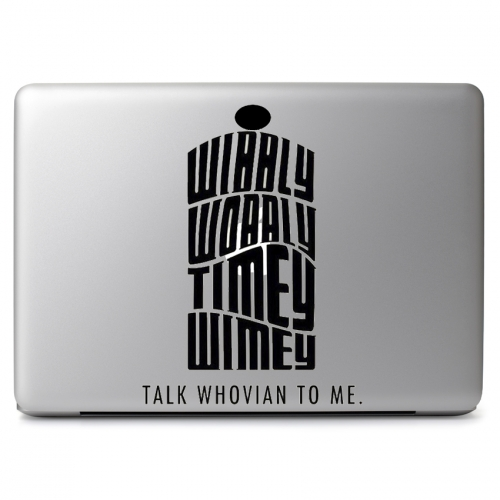 Doctor Who Whovian Wibbly Wobbly Timey Wimey - Apple Macbook Air Pro 11