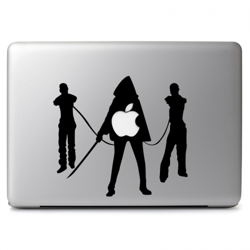 The Walking Dead Michonne with Katana Sword and Two Zombies in Shackles - Apple Macbook Air Pro 11