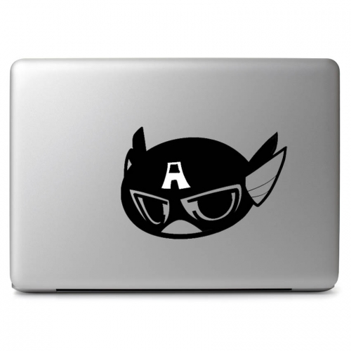 Cute Captain America Head - Apple Macbook Air Pro 11