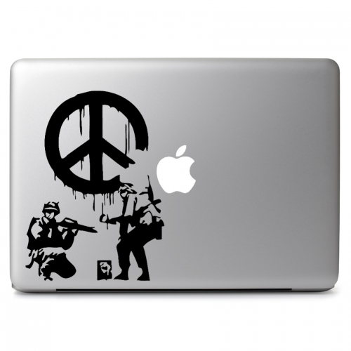 Graffiti Peace Sign - Apple Macbook Air Pro 11