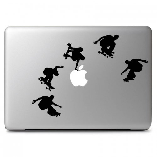 "Skateboarders - Apple Macbook Air Pro 11"" 13"" 15"" 17"" Vinyl Decal Sticker"