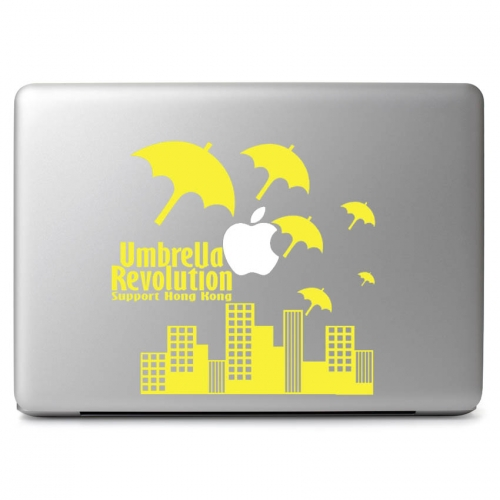 """Support Hong Kong Umbrella Revolution - Apple Macbook Air Pro 11"""" 13"""" 15"""" 17"""" Vinyl Decal Sticker"""