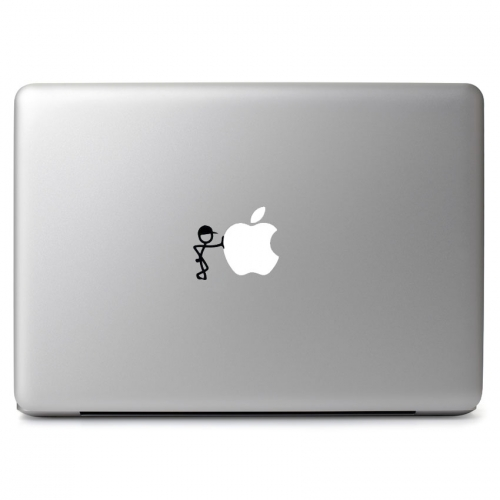 Stick Figure Waiting Leaning - Apple Macbook Air Pro 11
