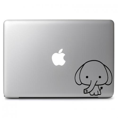 "Cute Baby Elephant - Apple Macbook Air Pro 11"" 13"" 15"" 17"" Vinyl Decal Sticker"