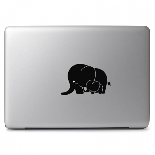 Mother with Baby Elephant - Apple Macbook Air Pro 11