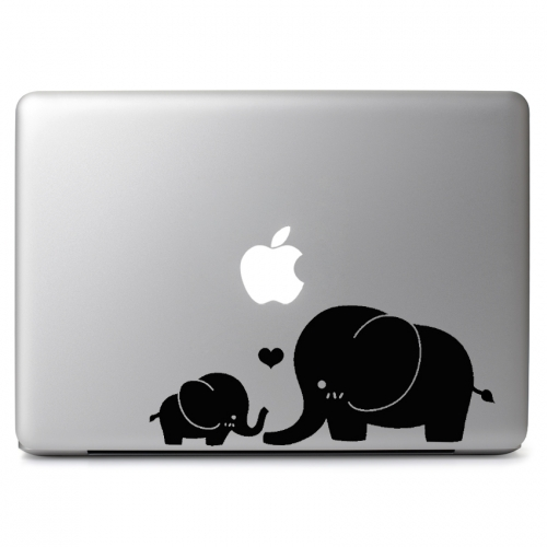 Mom and Baby Elephants Cute Love - Apple Macbook Air Pro 11