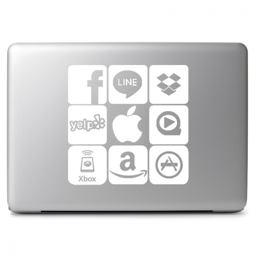 APP Applications Phone Apps White Logo - Apple Macbook Air Pro 11