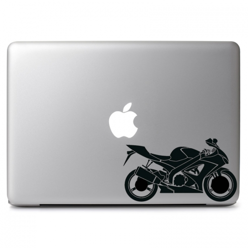 Motorcycle apple macbook air pro 11 13 15 17 vinyl decal sticker