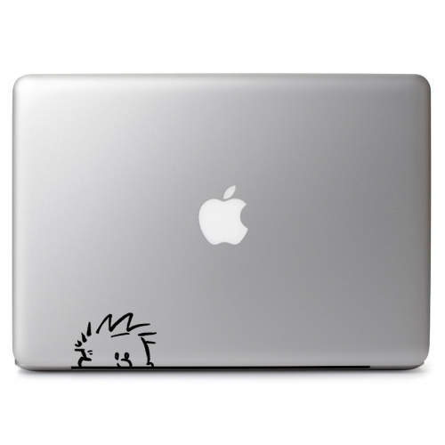 Calvin & Hobbes Peeping - Apple Macbook Air Pro 11