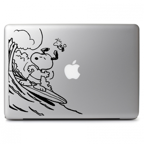 Peanuts Snoopy Surfing with Woodstock - Apple Macbook Air Pro 11