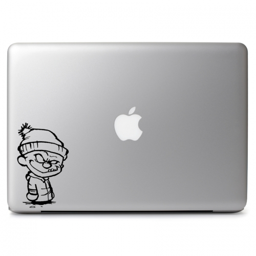Mischievous Winter Calvin & Hobbes - Apple Macbook Air Pro 11