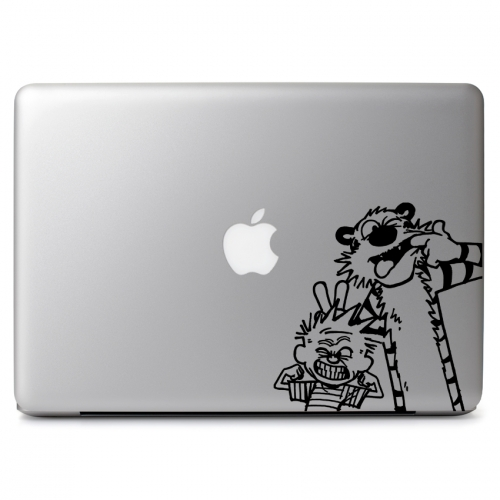 Calvin & Hobbes Making Funny Faces - Apple Macbook Air Pro 11