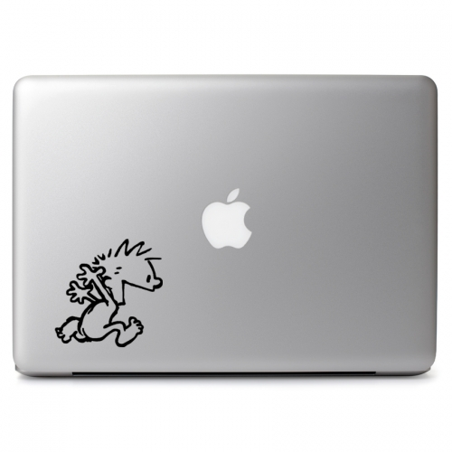 Calvin & Hobbes Naked Running Free- Apple Macbook Air Pro 11