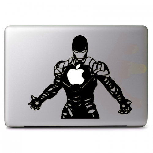 Marvel Comics Iron Man with Glowing Apple Logo - Apple Macbook Air Pro 11