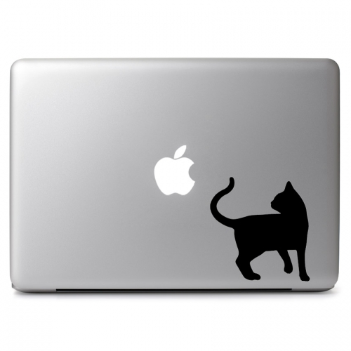 Black Cat Silhouette - Apple Macbook Air Pro 11