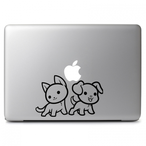 Cute Cat and Dog - Apple Macbook Air Pro 11