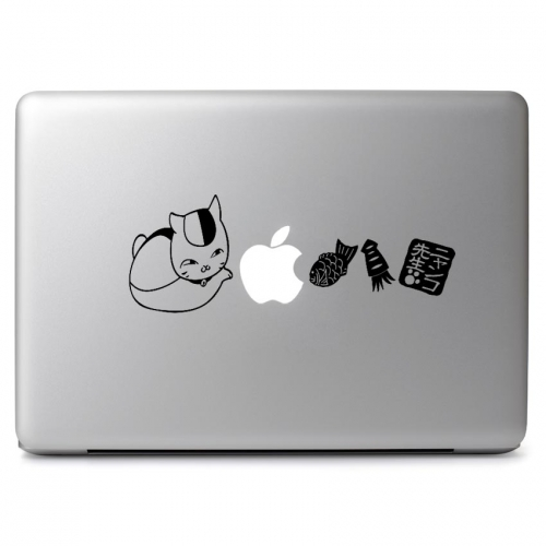 Cute Neko Cat with Treats - Apple Macbook Air Pro 11