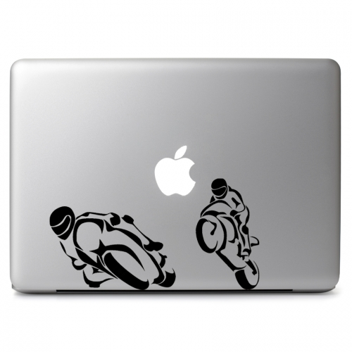 Motorcycle race apple macbook air pro 11 13 15 17 vinyl decal sticker