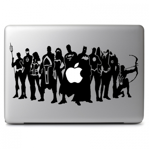 Comic Super Heroes with Apple - Apple Macbook Air Pro 11