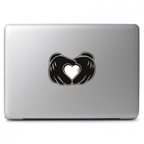 Mickey's Glove Hand Love Heart Symbol - Apple Macbook Air Pro 11
