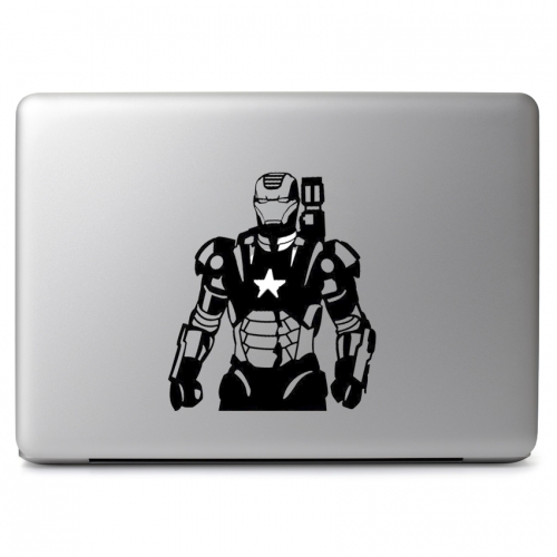 Marvel Comics Iron Man Mark II War Machine with Glowing US Star Arc Reactor - Apple Macbook Air Pro 11