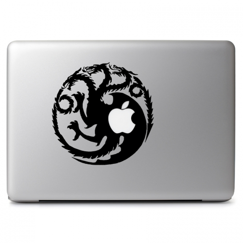 Game of Thrones Ice and Fire House Targaryen Fire and Blood Dragon with Apple - Apple Macbook Air Pro 11