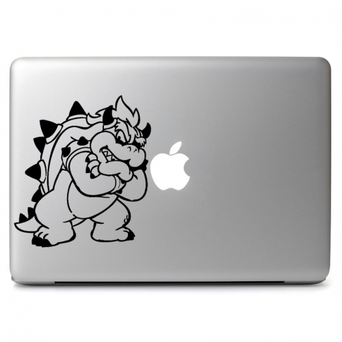 "Mario's Bowser - Apple Macbook Air Pro 11"" 13"" 15"" 17"" Vinyl Decal Sticker"