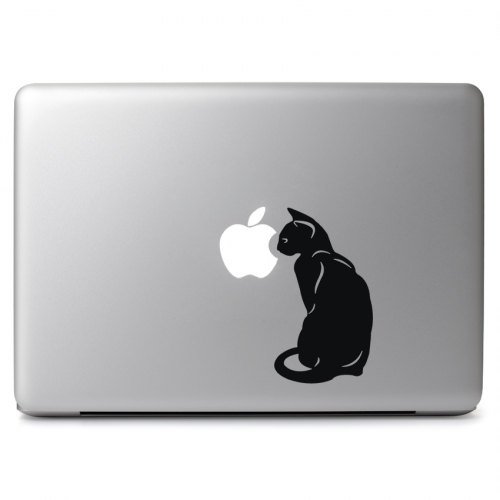 Black Cat Turned Away - Apple Macbook Air Pro 11