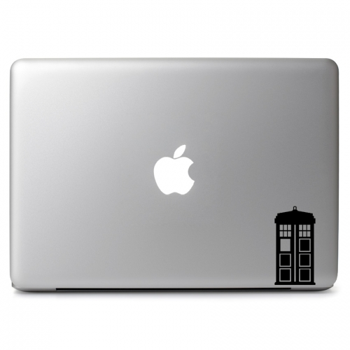 Mini Doctor Who Telephone Booth - Apple Macbook Air Pro 11