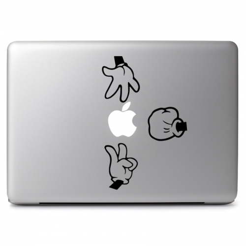 Rock Paper Scissors Mickey Glove Hands - Apple Macbook Air Pro 11