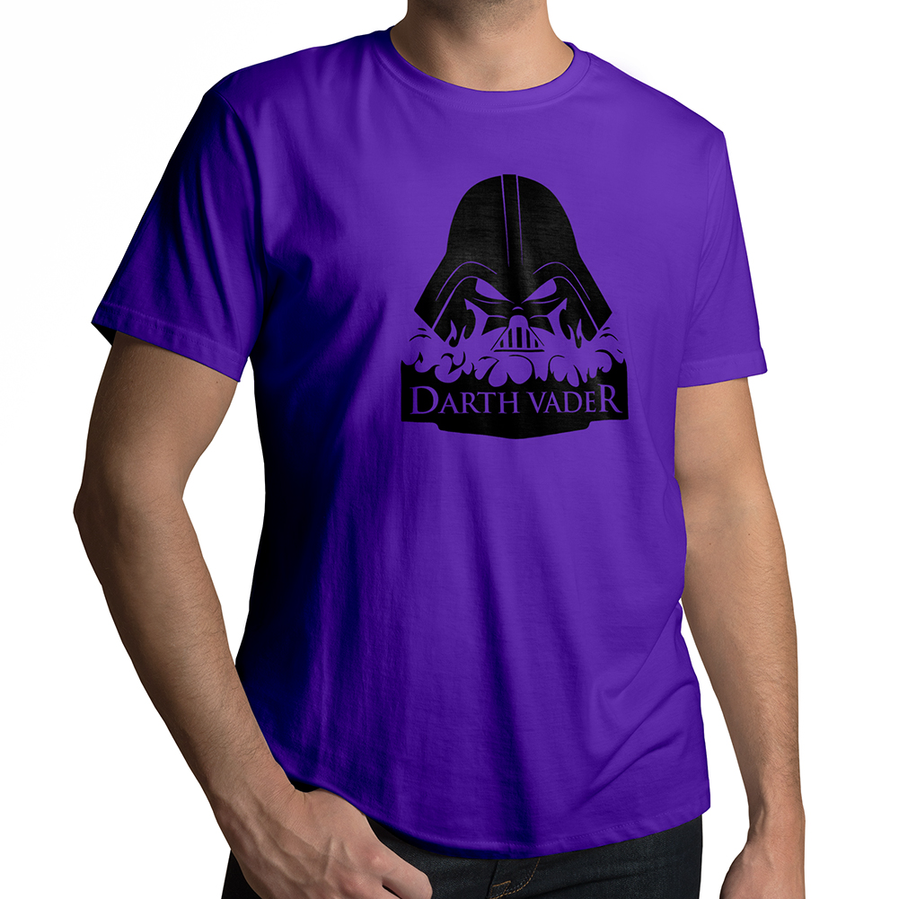 star wars burning evil darth vader mens 100 cotton crew neck tee t shirt ebay. Black Bedroom Furniture Sets. Home Design Ideas